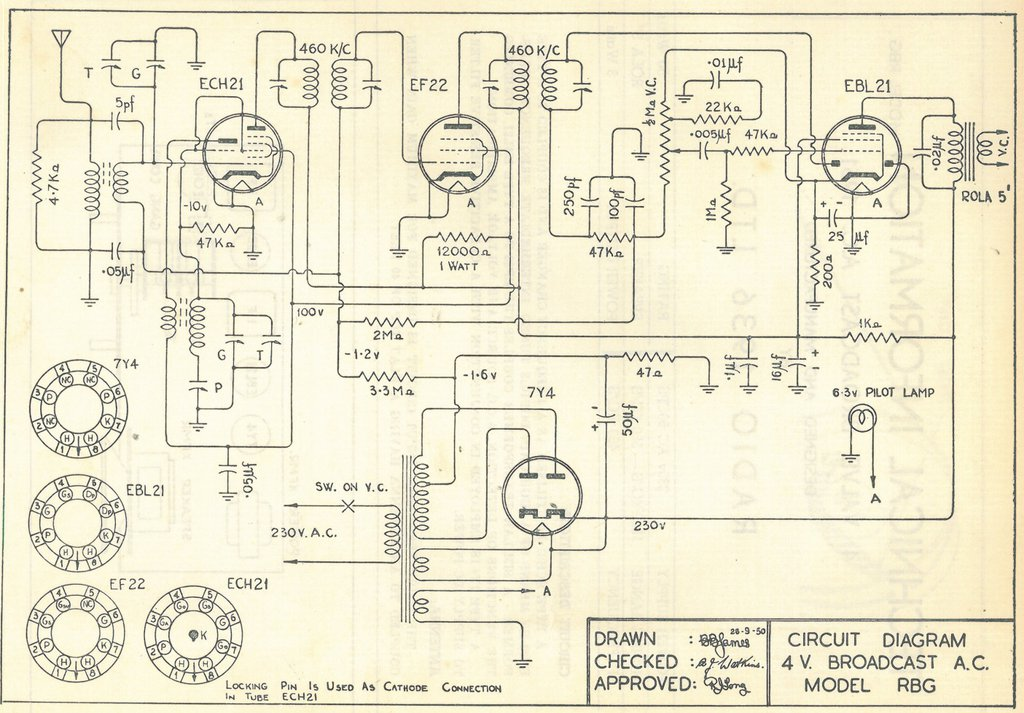 1951 Ultimate model RBG Schematic