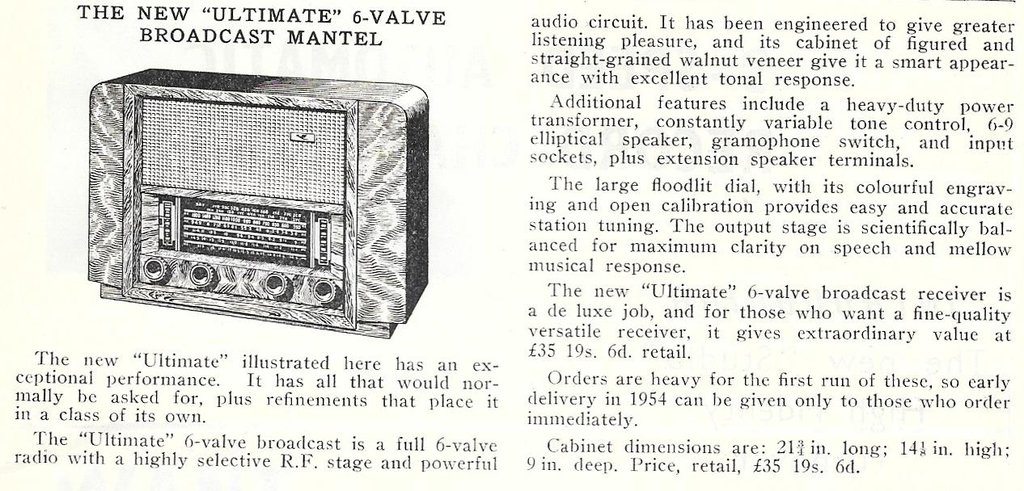 Ultimate RCG - Announcement, Feb 1954 Radio and Electronics