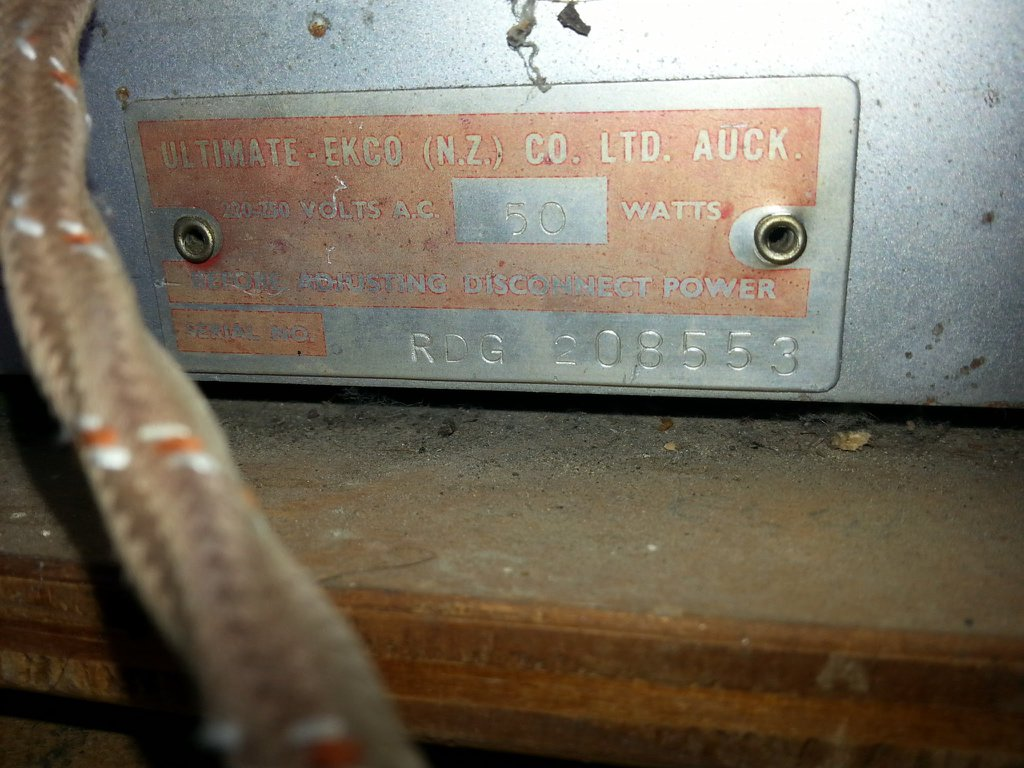 NZ Vintage Radio - 1955 Ultimate RDG