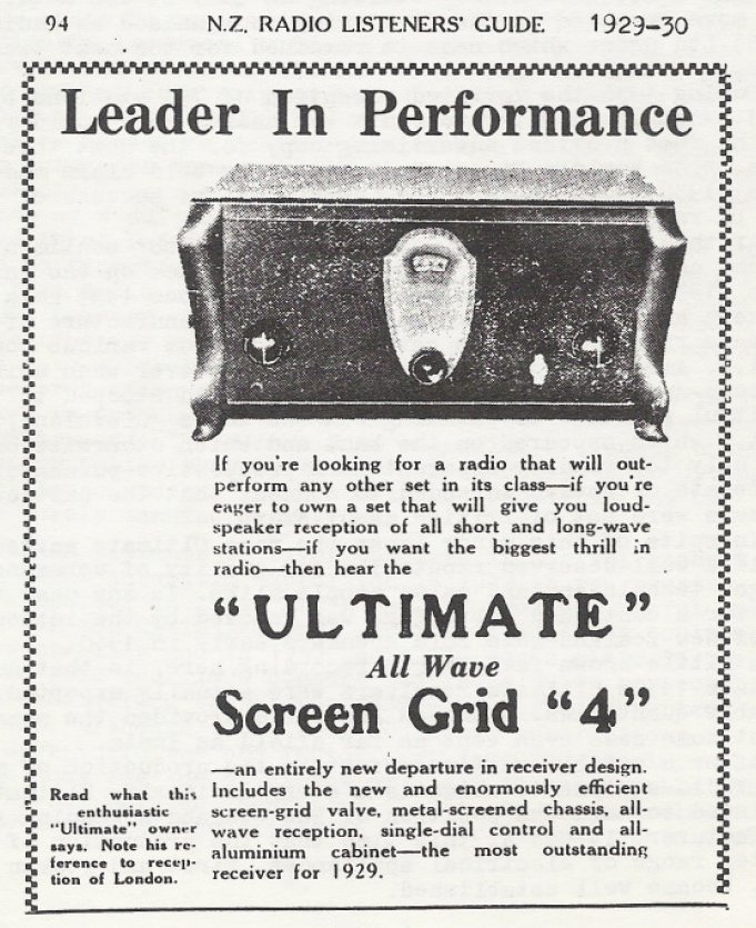 Ultimate Screen Grid 4 from 1927-30ish