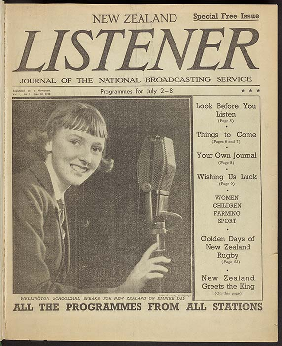 Alexander Turnbull Library Reference: New Zealand Listener 1, no. 1 (30 June 1939) (S-L-1249-COVER)